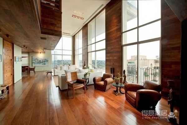 朴实的圣保罗全木住宅-客厅篇图_5