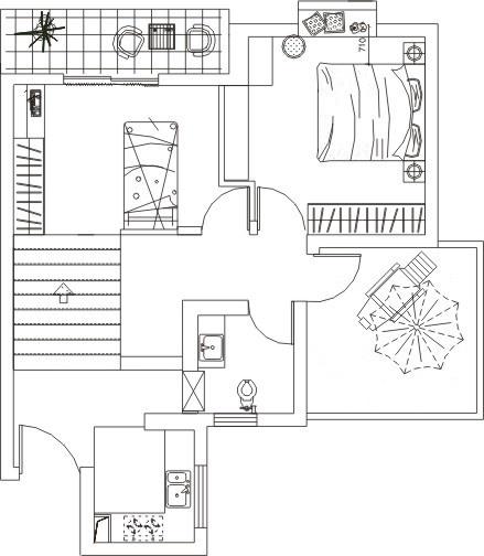 LOFT小户型向日葵多彩-客厅篇图_2