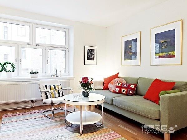 80㎡北欧复式家-客厅篇图_1