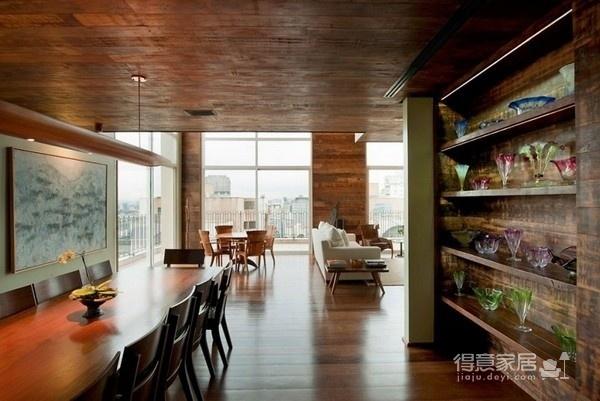 朴实的圣保罗全木住宅-客厅篇图_3