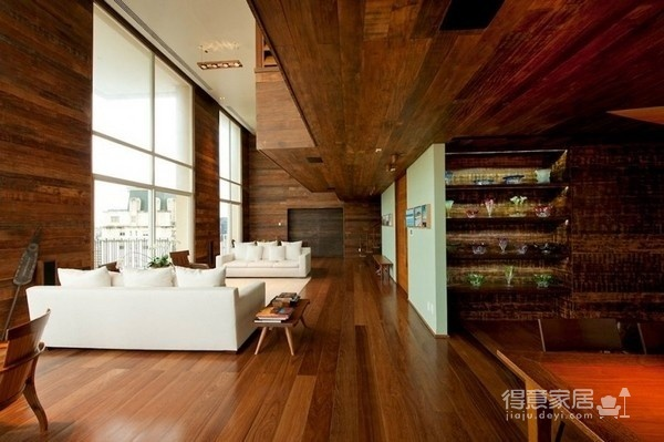 朴实的圣保罗全木住宅-客厅篇图_6