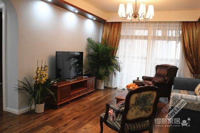 85平3房2厅精致美式-客厅图_3