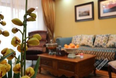 85平3房2厅精致美式-客厅