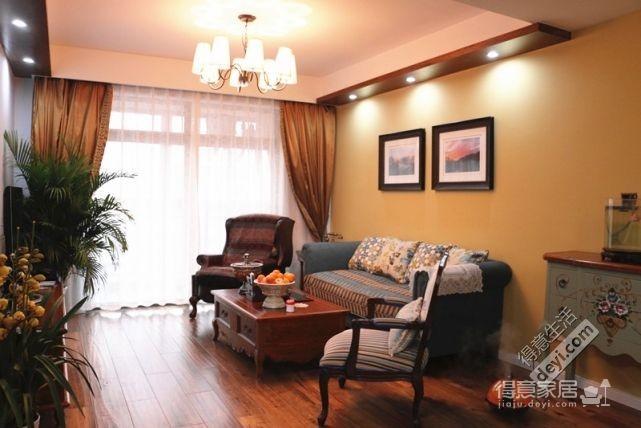 85平3房2厅精致美式-客厅图_2