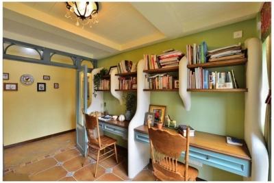 92平米地中海浪漫怀旧书房