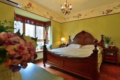 92平米地中海浪漫怀旧卧室