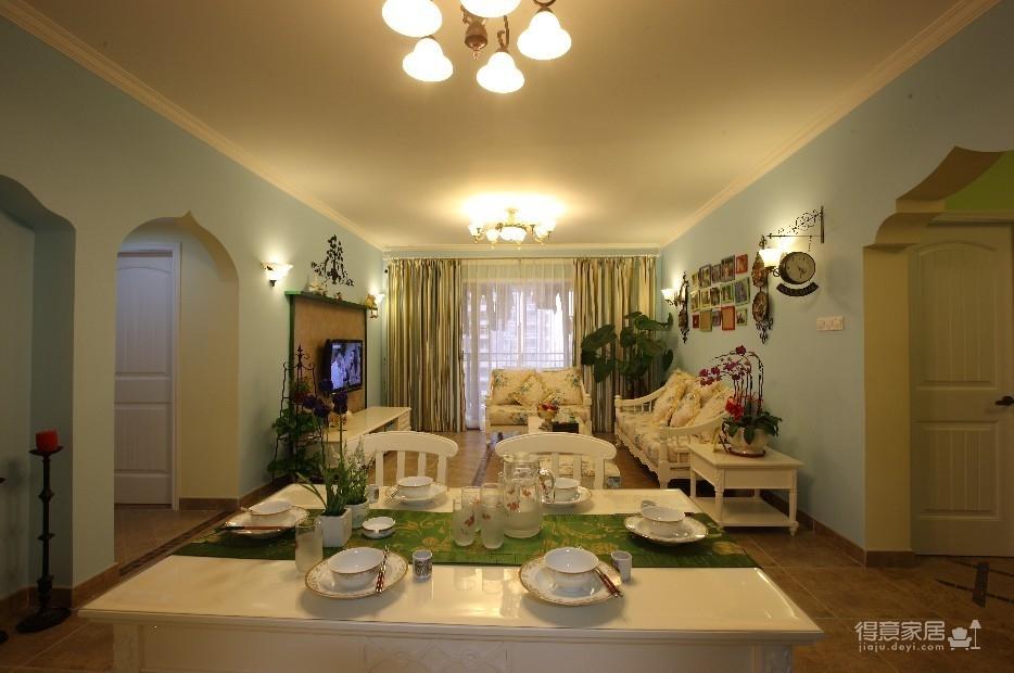 94平3室2厅地中海混搭餐厅图_2