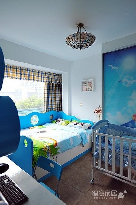 醉人的蓝色卧室图_1