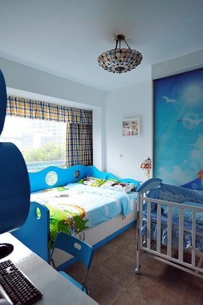 醉人的蓝色卧室