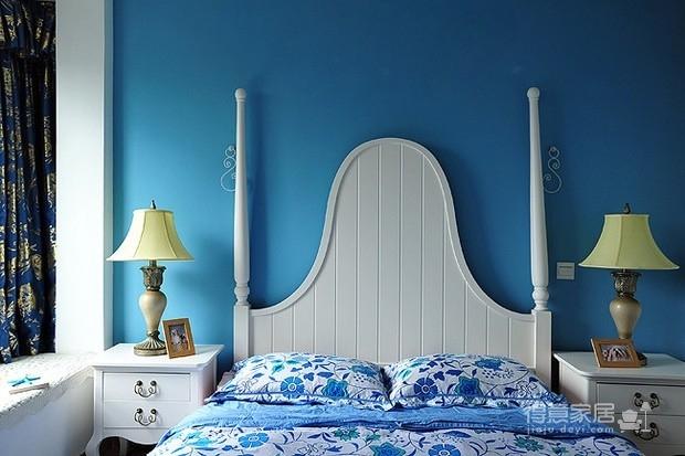 醉人的蓝色卧室图_4