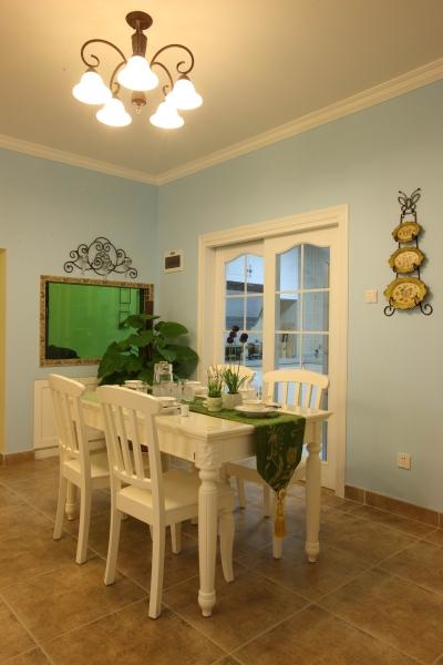 94平3室2厅地中海混搭餐厅