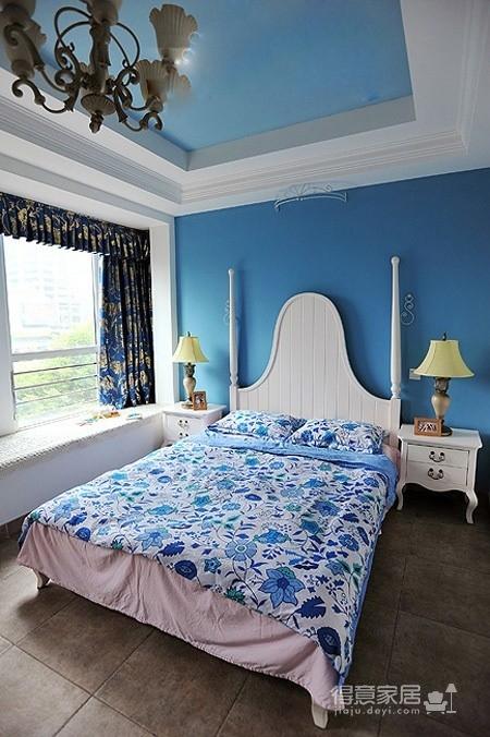 醉人的蓝色卧室图_5