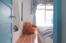 蓝色调为主地中海小清卧室图_3