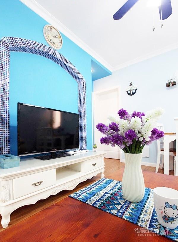完美地中海婚房客厅图_2