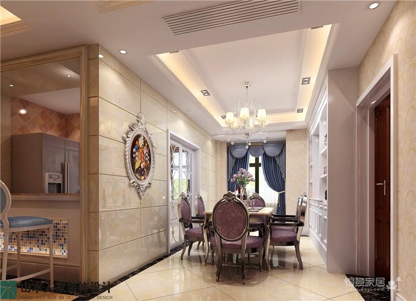 百瑞景中央生活区-三居室-装修效果图图_3
