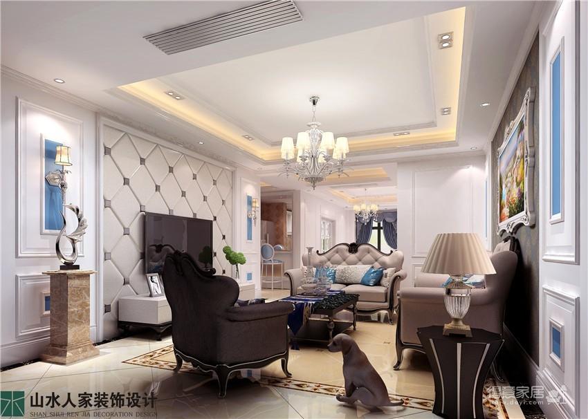 百瑞景中央生活区-三居室-装修效果图图_1