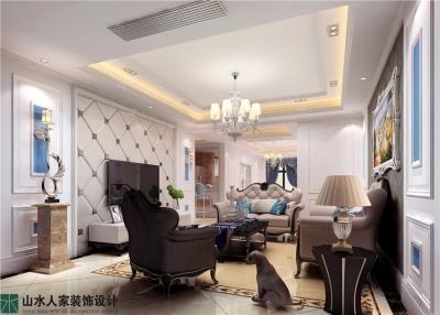 百瑞景中央生活区-三居室-装修效果图