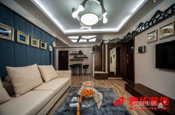 4.8万打造香港映象90平米暖心之家图_1