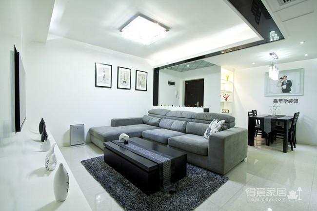 港东名居两房两厅现代简约风格图_2