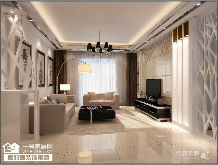 桃花源-105平-现代简约-三室两厅图_1
