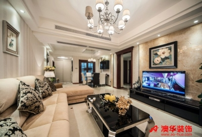 8万装扮长江紫都125平米精致三口之家