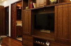 保利心语68平新中式客厅餐厅装修实拍图图_9