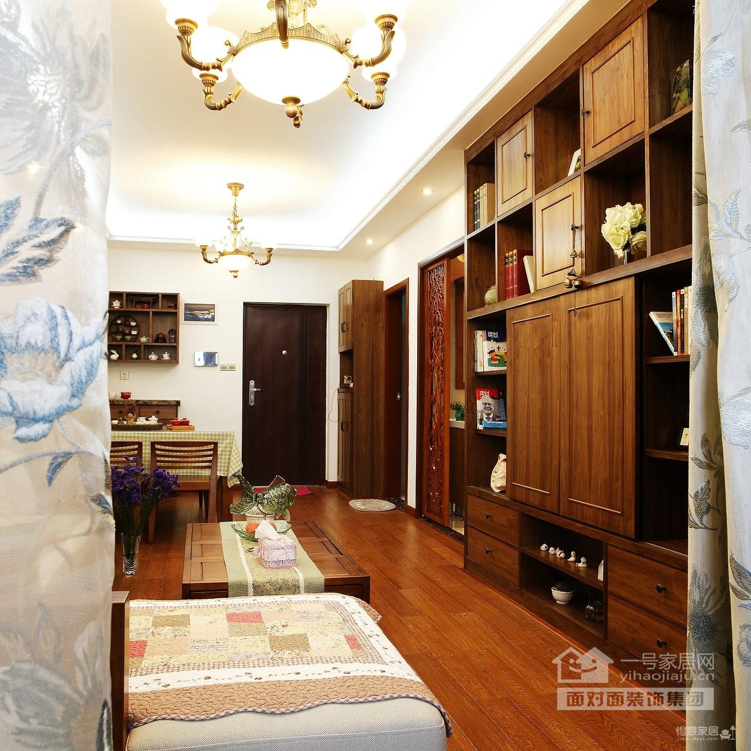保利心语68平新中式客厅餐厅装修实拍图图_11