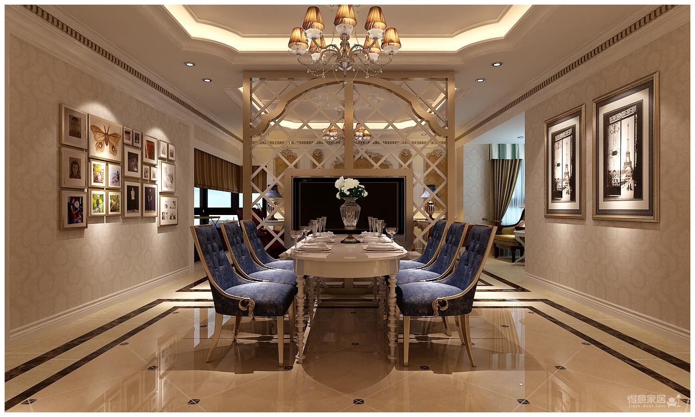 160平米法式风格四居室/属于两个人的罗曼蒂克图_2