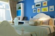 90平米地中海风格两居室/时尚舒适的简约蓝色图_4