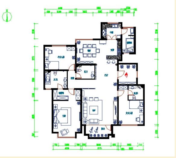 172平简约欧式风格装修 环保的清新家居图_7