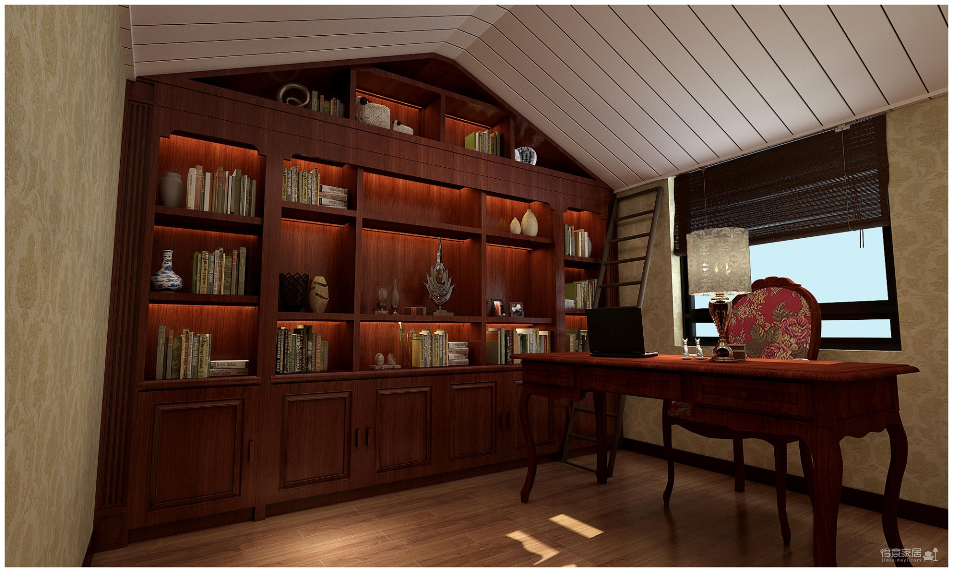 320平米别墅装修/新中式风格的独特演绎图_9