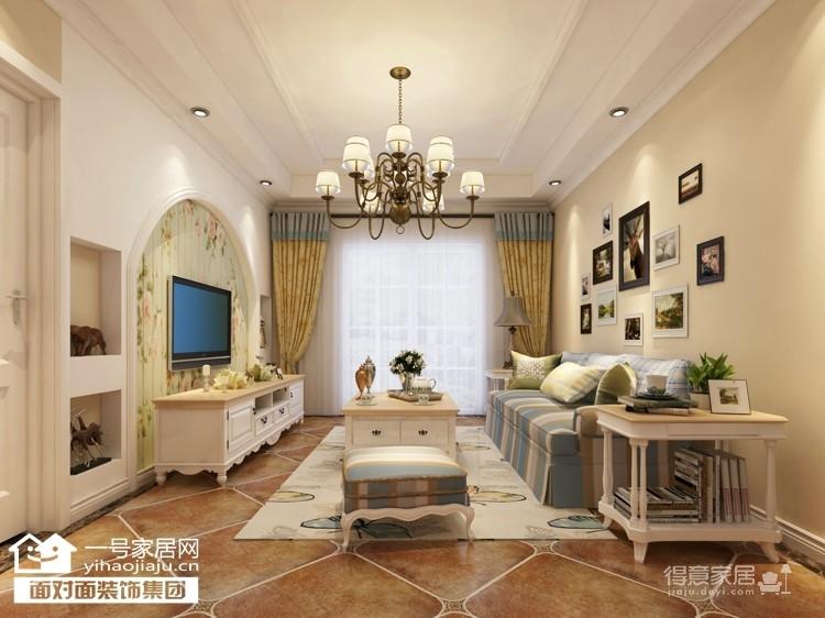 92平的温馨田园两室两厅装修图图_1