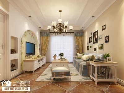 92平的温馨田园两室两厅装修图