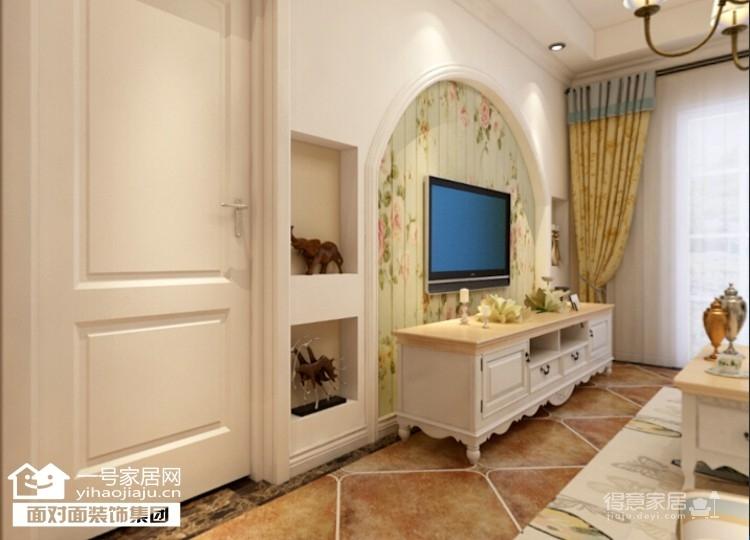 92平的温馨田园两室两厅装修图图_2