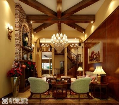 230平美式乡村风格别墅装修设计图