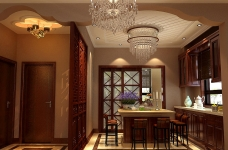 320平米别墅装修/新中式风格的独特演绎图_4