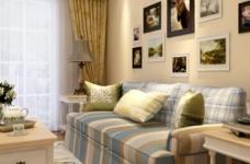 92平的温馨田园两室两厅装修图图_3