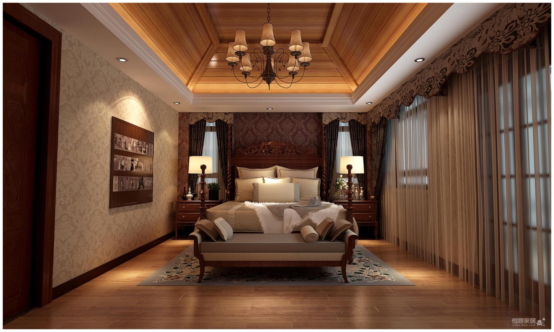320平米别墅装修/新中式风格的独特演绎图_8