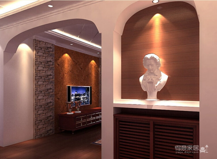200平米联排别墅/现代欧式风格装修图_5