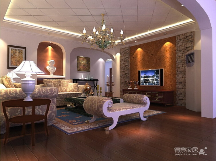 200平米联排别墅/现代欧式风格装修图_2