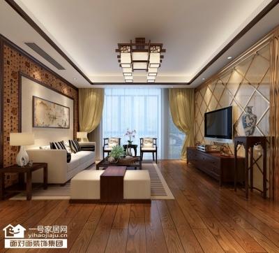 香榭琴台墨园-124平-简约中式-三室两厅