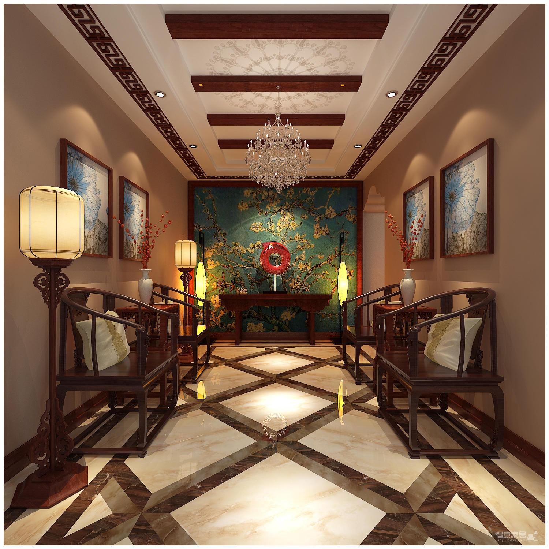 320平米别墅装修/新中式风格的独特演绎图_2
