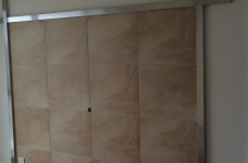 130平米混搭风格三居室/实景完工工地展示图_3