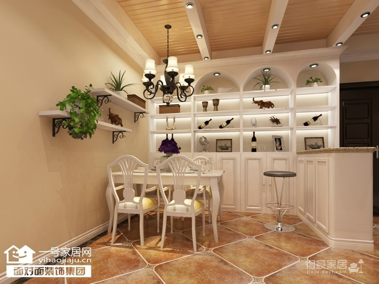 92平的温馨田园两室两厅装修图图_4