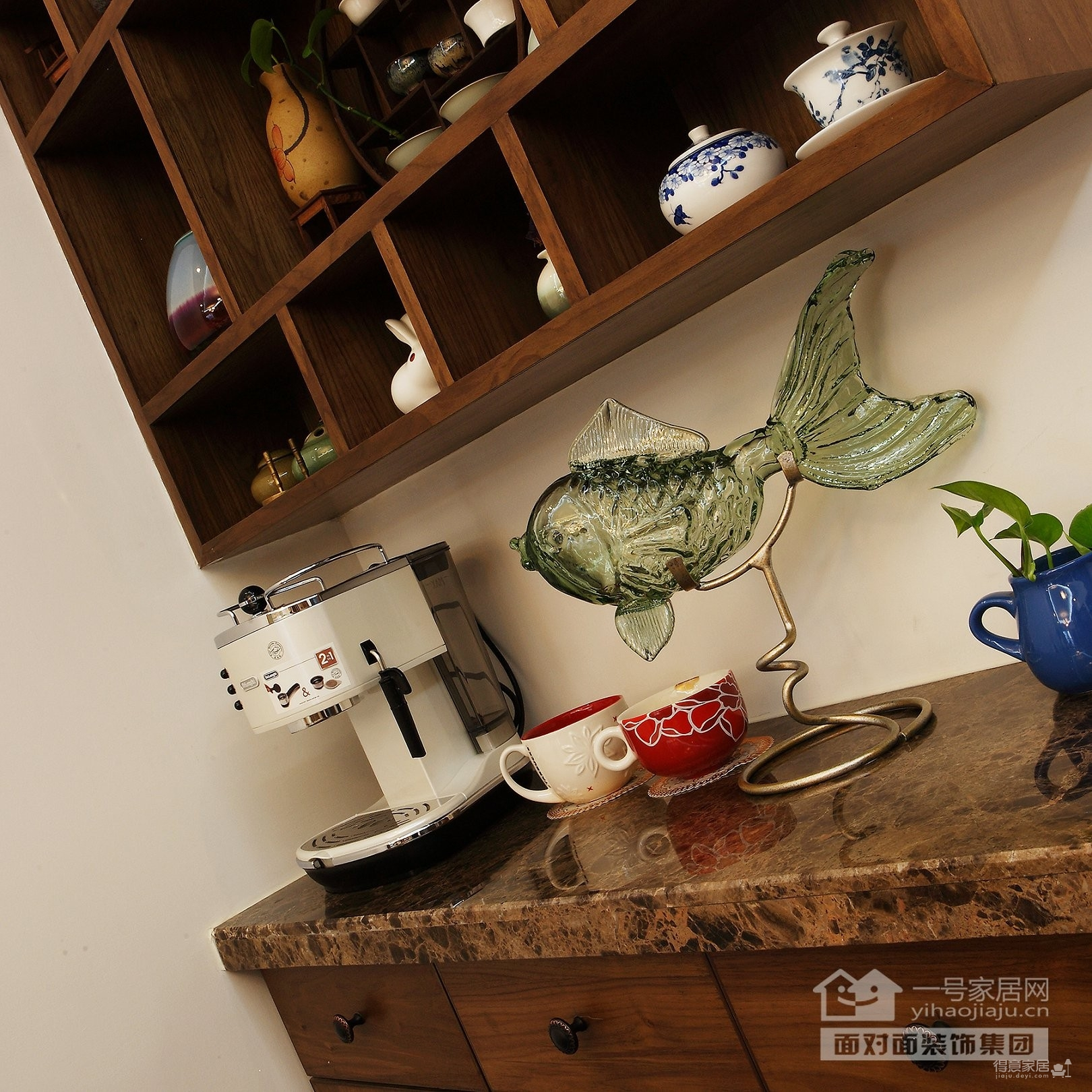 保利心语68平新中式客厅餐厅装修实拍图图_7