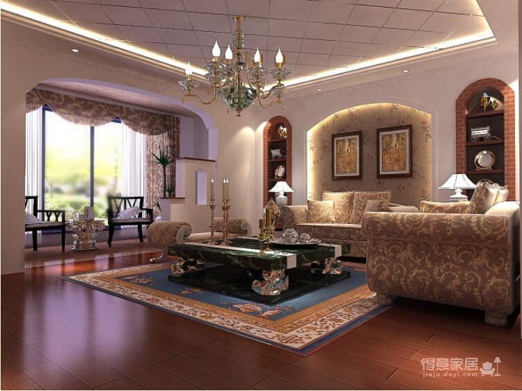 200平米联排别墅/现代欧式风格装修图_1
