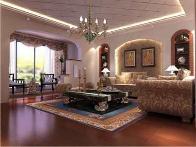 200平米联排别墅/现代欧式风格装修