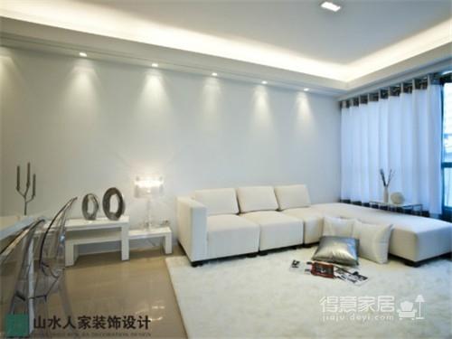 水晶郦都-60平-两室两厅-现代简约风格图_2