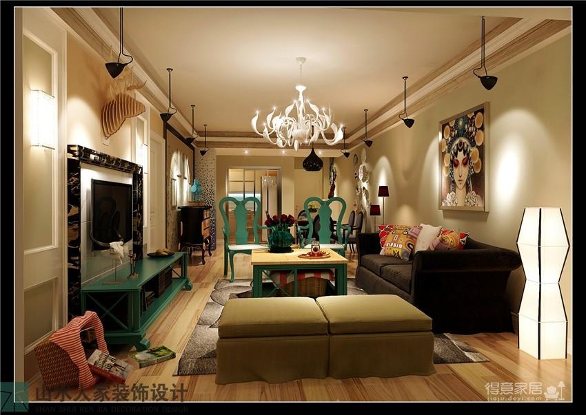 南湖玫瑰湾-三室两厅-混搭风格图_1