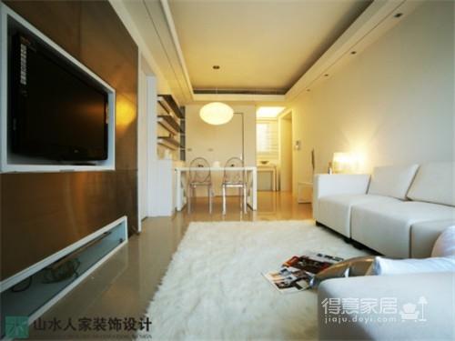 水晶郦都-60平-两室两厅-现代简约风格图_5